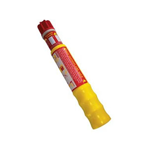 SOLAS Red Hand Flare short range distress signal. Used to pinpoint location by day or night. Burns for 60 seconds at 15,000 candela. Red Hand Flare