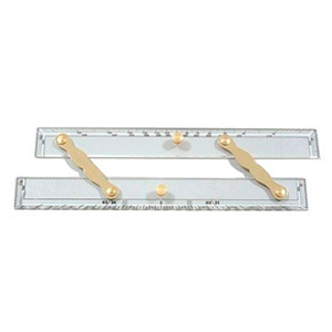 "Parallel ruler 12 LALIZAS Parallel ruler 12"" General Marine Equipment Navigation Instruments Straight pattern brass dividers Parallel ruler 12"""