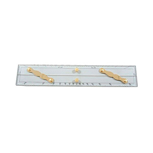 "Parallel ruler 15 LALIZAS Parallel ruler 15 General Marine Equipment Navigation Instruments Straight pattern brass dividers Parallel ruler 15"".."