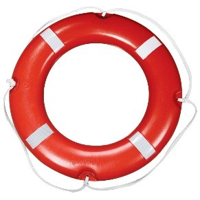 Lifebuoy Ring LALIZAS Lifebuoy Ring SOLAS, with Reflective Tape Designed for pleasure and commercial usage, features an orange, rack hard,cross - linked