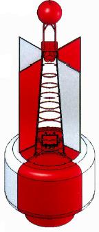 ทุ่น,ทุ่นเครื่องหมายการเดินเรือ,ทุ่นสีขาวแดงหมายถึง,ทุ่นสีขาวแดง
