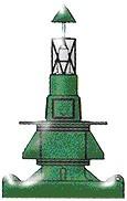 ทุ่นเครื่องหมายแสดงขอบเขตทางข้างแนวทางเดินเรือ (LATERAL MARKS) สีเขียว