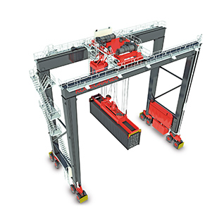 Rubber tire gantry crane Marine